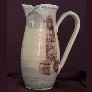 jug large pitcher. irish pottery