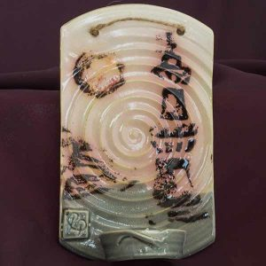 wall tealight irish pottery