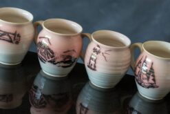 mugs by peninsula pottery donegal