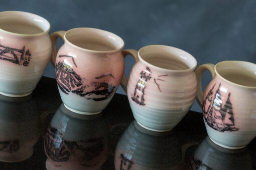 mugs by peninsula pottery donegal