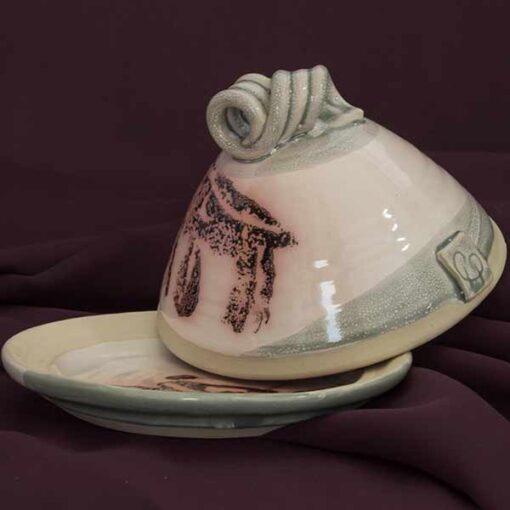 butter dish pottery by Irish potter
