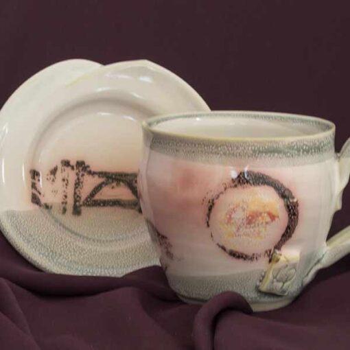 cup saucer pottery set