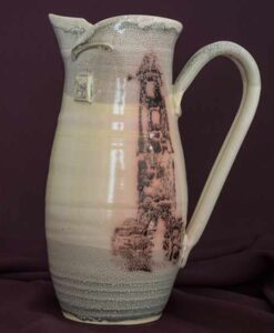 jug large pitcher. irish pottery
